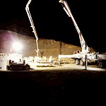 Concrete pour at night.