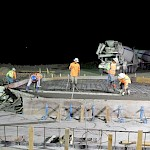 Night Time Pour on 650-TK-002 Tank Pad