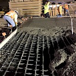 Concrete pour for Meryl Crow plant