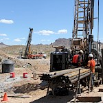 Moss Mine construction - Drill