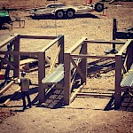 Moss Mine Construction - beginning stages of the crusher assembly