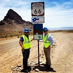 Jeb Handwerger & Ken Berry on Route 66